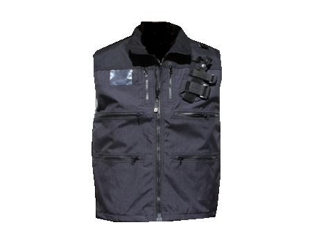 Mountain Uniforms 187 Radio Vest W Shock Cord Blk Blk
